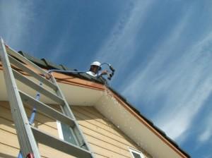屋根からの散水