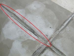 調査部位4 防水コンクリート目地