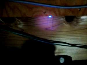 紫外線照射発光テスト確認状況